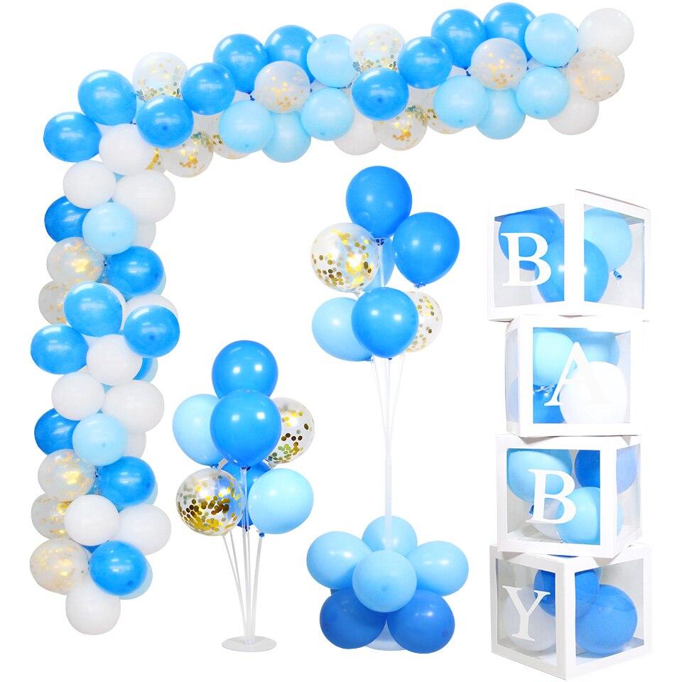 Balões para decoração de festas infantis, balões fofos de azuis de urso para decoração de festas, meninos e meninas, decoração de chá de bebê, material de festa, 1 conjunto