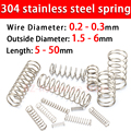 304 Stainless Steel Compression Spring, Return Spring, Steel Wire Diameter0.2~0.3mm Outside Diameter1.5~6mm 10 Pcs