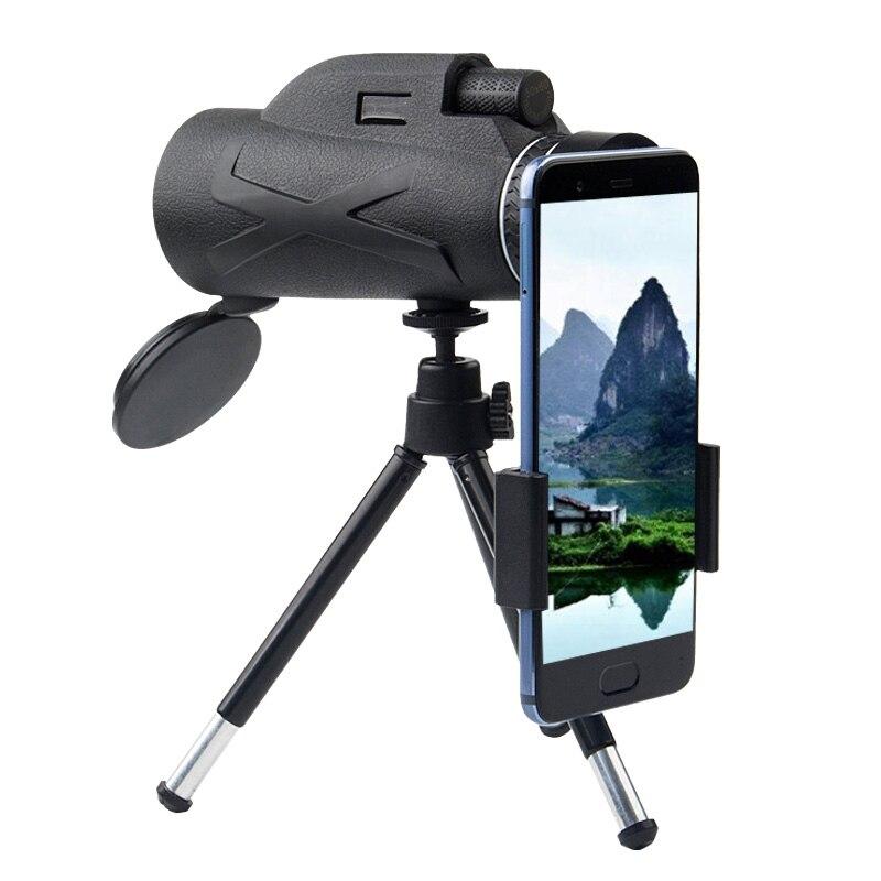 BAK4 80X100 зум портативный Призма HD оптический монокулярный телескоп с зажимом для телефона со штативом