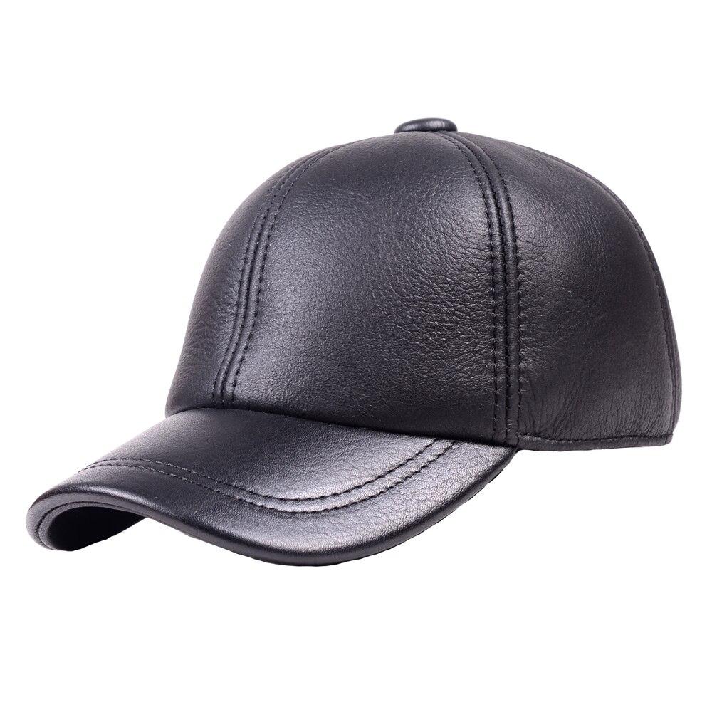 Homme 100% réel fourrure hiver chaud cache-oreilles casquette de Baseball armée béret gavroche chapeaux/casquettes