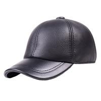 Men's Male 100% Real Fur Winter Warm Earmuffs Baseball Cap Army Beret Newsboy Hats/caps