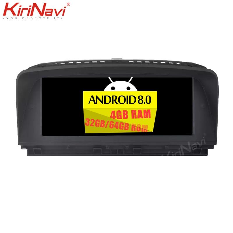 """KiriNavi 8 Core 4 + 64G 8.8 """"2din Android 8.0 lecteur dvd de voiture multimédia pour BMW série 7 E65 E66 automotivo tête unité auto radio"""