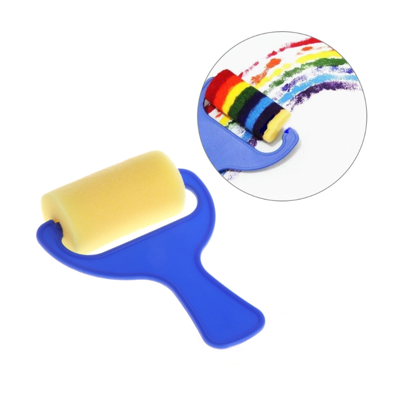 Sponge Painting Brush Kids Painting Toy Foam Roller Plastic Early Learning Tool