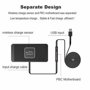 Image 3 - C1 QI kablosuz araba şarjı Pad iPhone 11 Pro Max hızlı hızlı kablosuz şarj cihazı 10W 7.5W depolama çekmecesi