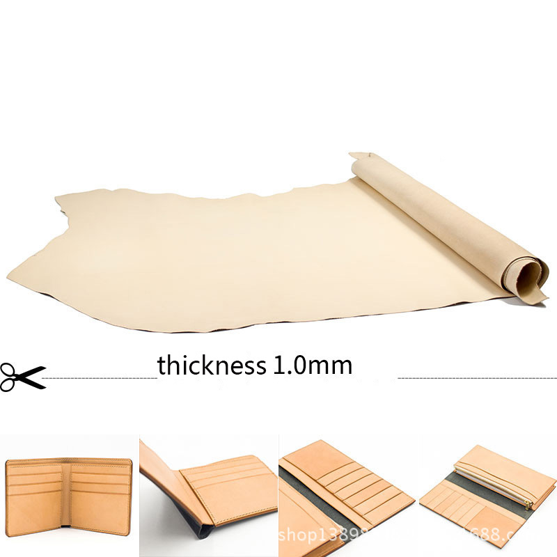Vegetable Tanned Leather First Layer of Leather-Staining Handmade DIY 1.0mm thickness image
