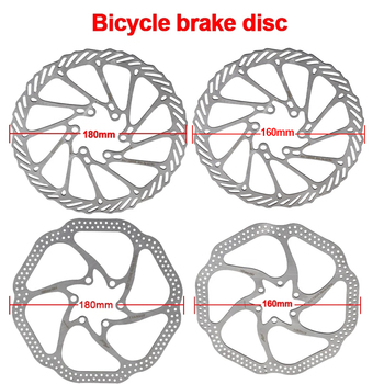 2Pcs G3 HSI Bicycle BrakeCS Sweep Disc Brake Block Lining Rotors Mtb Bike Brake Pad160/180mm With 12Bolts System Disc Bike Parts image