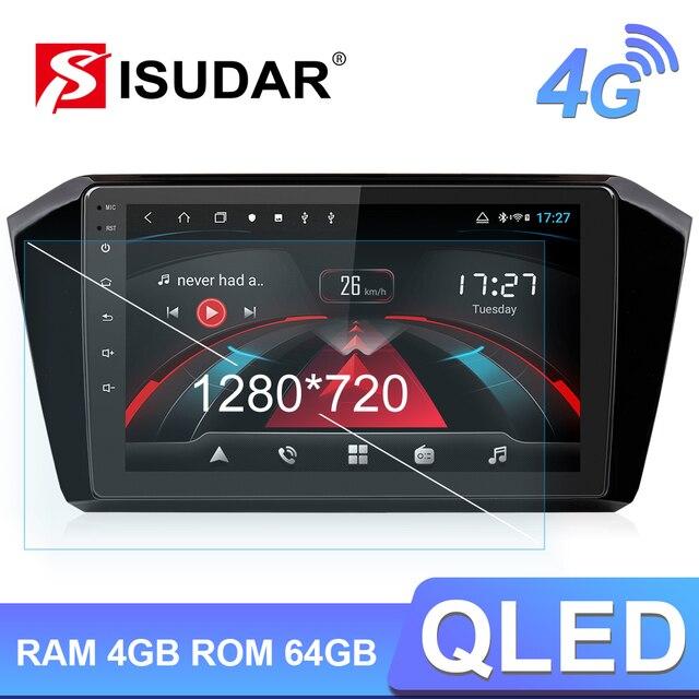 Isudar rádio automotivo, rádio automotivo com 4gb, android 1, para vw/volkswagen/passat b8 magotan, 2015 gps 8 núcleo ram 4gb câmera usb dvr