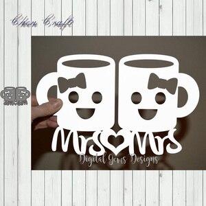Matrices de découpe en métal | Paire de tasses de café, pochoirs découpés pour le bricolage, Scrapbooking, gaufrage de cartes en papier pour Album