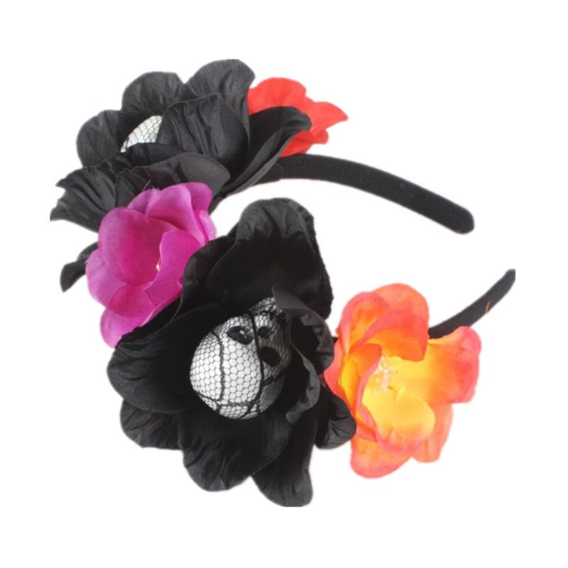Image 3 - Halloween Day of The Dead Simulation Flower Crown Headband Womens Horror Foam Skull Hair Hoop Cosplay Party Favors Headpiece-in Styling Accessories from Beauty & Health