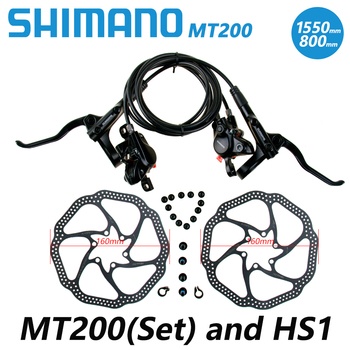 Shimano br bl mt200 mt315 bicycle brake mtb brake hydraulic disc brake 800/1450/1550 mountain clamp bicycle brake upgrade m315