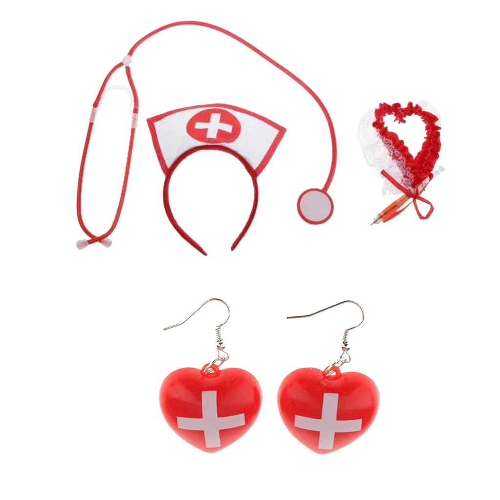 <font><b>Sexy</b></font> Nurse Costume Set Hospital Honey Women <font><b>Halloween</b></font> Dress Up <font><b>Cosplay</b></font> Costume Exotic Accessories image