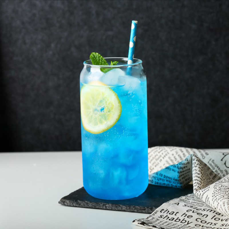 Creative แก้วโซดาโคล่าสามารถรูปแก้วเบียร์ถ้วย Bar Cafe เครื่องดื่มน้ำผลไม้ถ้วยความร้อนแว่นตา 400 ML/550 ML