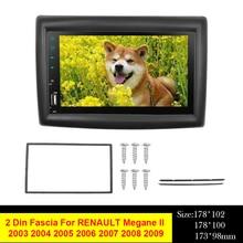 Panel Dash-Installation Megane-Ii RENAULT for 2003-2009 Car-Radio 2DIN Frame Stereo-Trim-Kit