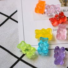 Figurines Miniatures Home Decor Flatback Food DIY Resin Sugar Dollhouse Cute Bear Design 20pcs QQ Gummy Candy Stationery Box