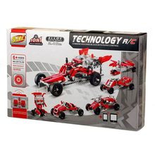SDL R/C 10 in 1 Race Cars Building Bricks Radio Control Toy, 191 Pcs DIY Kit with USB Rechargeable Battery, Construction Build