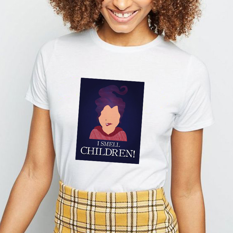 Showtly I Smell Children Halloween Women Clothes 2019 Hocus Pocus <font><b>Sanderson</b></font> Sisters T <font><b>Shirt</b></font> Horror Vintage Ulzzang Oversized image