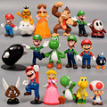 Экшн-фигурки «Супер Марио Брос», ПВХ игрушки, аниме игрушки, куклы Луиджи Йоши боусер, персиковая модель, Мультяшные куклы, подарок на день р...