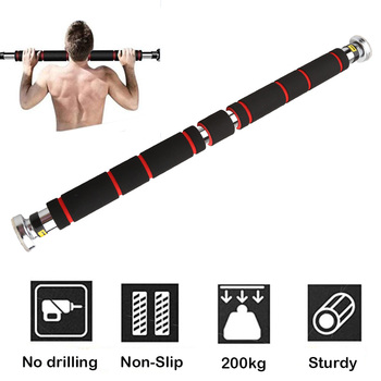 200kg Adjustable Door Horizontal Bars Exercise Home Workout Gym Chin Up Pull Up Training Bar Sport Fitness Equipments 1