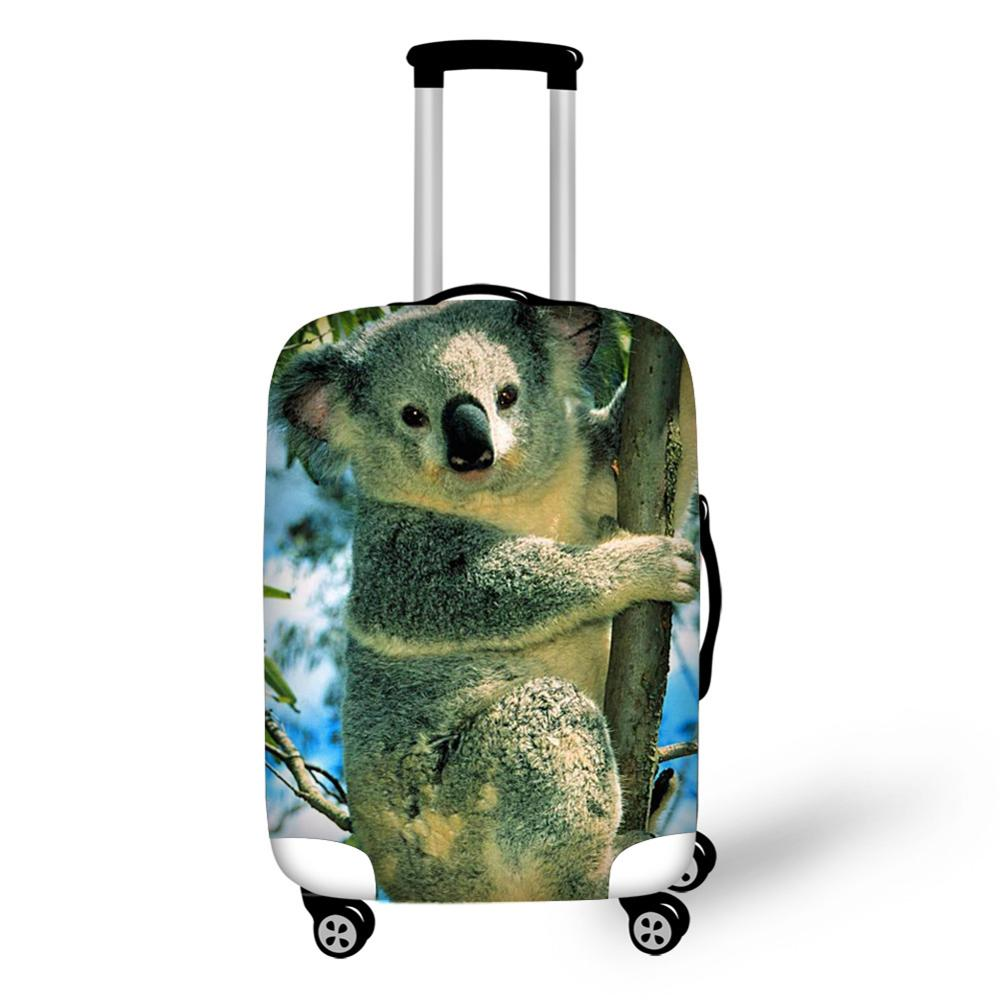 Animal Koala Print Travel Accessories Suitcase Protective Covers 18-30 Inch Elastic Luggage Dust Cover Case Stretchable