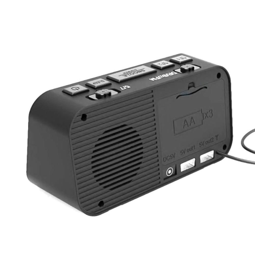 alarm clock DAB & FM Alarm Clock Radio With Bluetooth Speaker FM Radio LED Mirror Alarm Clock Snooze Desktop Clocks Wireless Music Player (4)