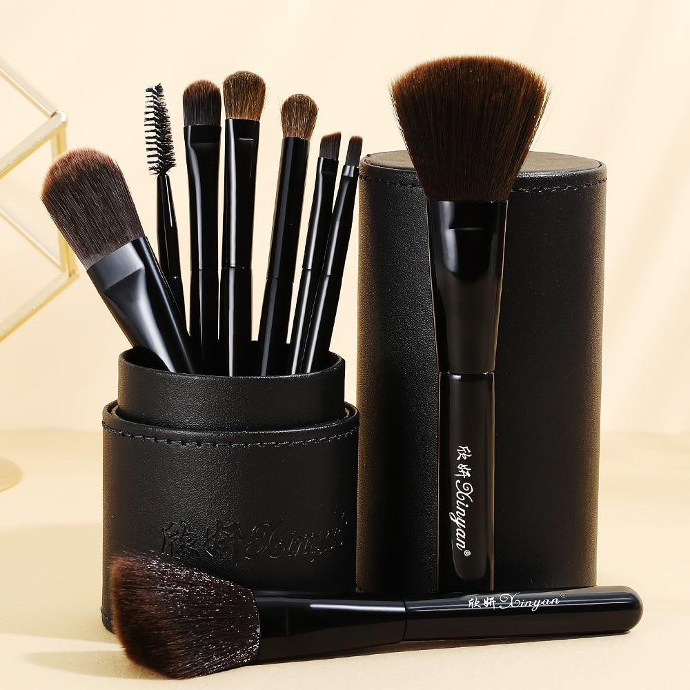 XINYAN Candy Makeup Brush Set Pink Blush Eyeshadow Concealer Lip Cosmetics Make up For Beginner Powder Foundation Beauty Tools 2
