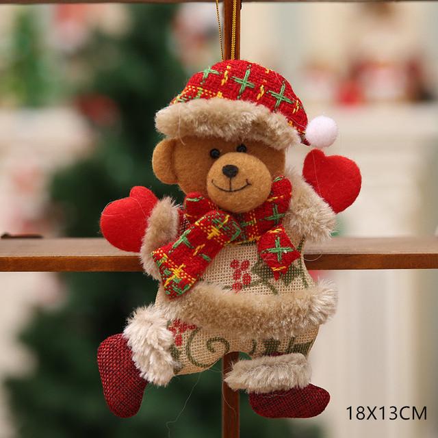 New Year 2020 Cute Santa Claus/Snowman/Angel Christmas Dolls Noel Christmas Tree Decoration for Home Xmas Navidad 2019 Kids Gift 37