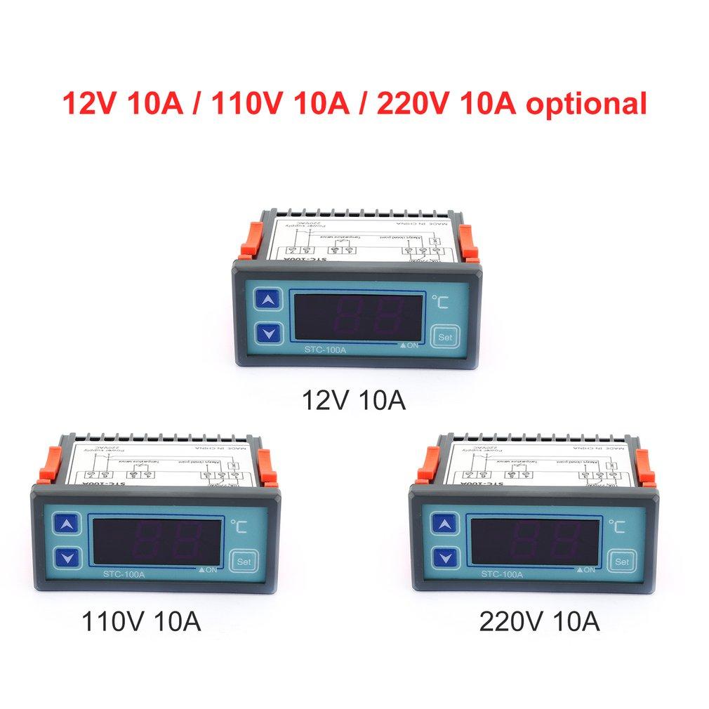 Digital Temperature Controller Cool Heat Refrigerator Thermostat Regulator Thermoregulator Thermocouple Sensor STC-100A