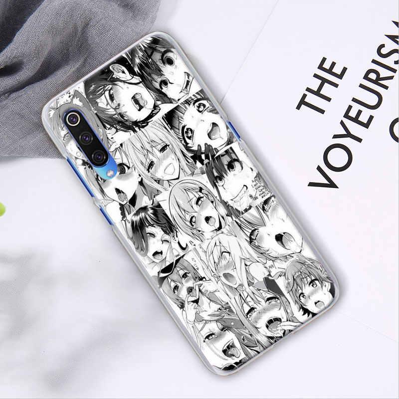Anime Cô Gái Hoạt Hình Nhật Bản Dễ Thương Mặt Ốp Lưng Cho Xiaomi Mi 9 9T 10 Thanh Niên Note 10 Pro A1 A2 a3 8 Lite Poco X2 F2 Pro Bìa Cứng Capa