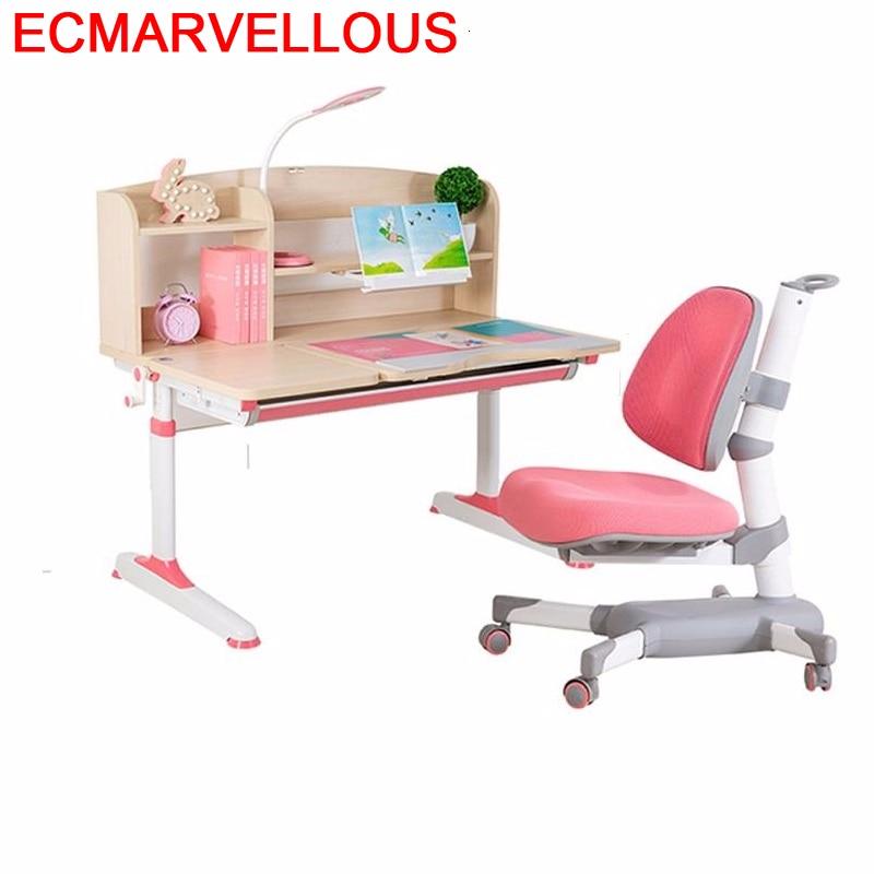 Escritorio And Chair De Estudio Tavolo Bambini Play Adjustable Mesa Infantil For Kinder Bureau Enfant Kids Study Table