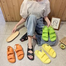 Summer Women Sandals Ladies Slide Slippers Open-toe Women Comfortable Sandals Non-slip Soft Soles Fashion Shoes Flat Beach Shoes