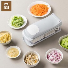 Youpin Jordan&Judy Manual Vegetable Cutter Slicer Dicer Fruit Melon Peeler 6 In 1 Multifunctional Onion Chopper With Container