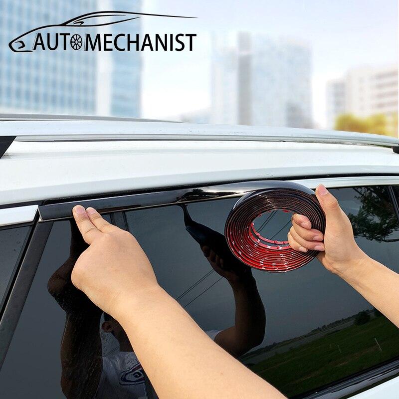 Chrome Styling Car Trim Strip Sticker Door Protector Strips Side Window Anti-Collision For Car Body Decorative Trim Accessories