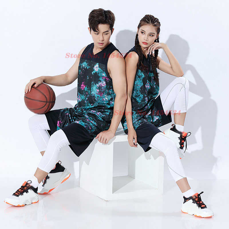2020 New Basketball Clothing Suit Men Women Students Set Competition Custom Printing Number Sports Vest Breathable Jersey