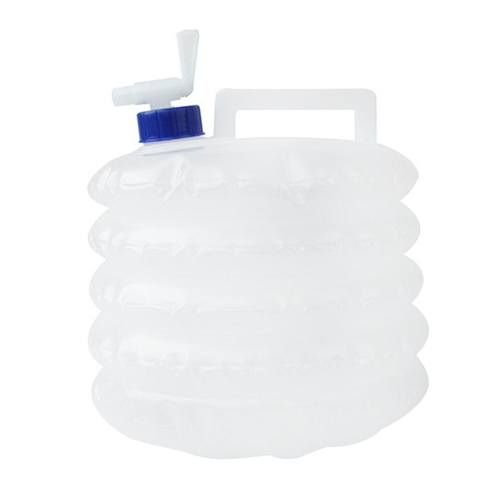 5L 접을 수있는 하이킹 야외 수돗물 저장 물 컨테이너 PE 휴대용 대용량 마시는 캠핑 화이트 비 독성