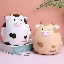 かわいい牛貯金箱マネーコイン浴びマネージャーコイン貯金箱大貯金箱コイン子供のおもちゃ誕生日ギフト