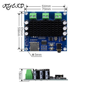Image 2 - TDA7297 بلوتوث 5.0 الرقمية مكبر للصوت مجلس 15W * 2 ستيريو الصوت أمبير دعم TF بطاقة 3.5 مللي متر AUX جاك للناطقين XH A272
