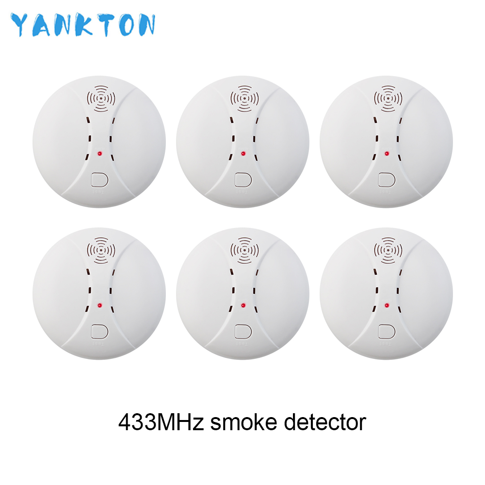 433MHz Wireless Smoke Detector Fire Smoke Sensor For Home Security Alarm System Alarm Accessories Smoke Grenade  Fire Equipment