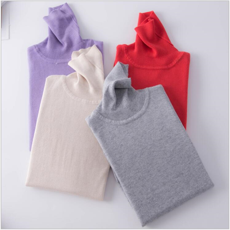 Autumn Winter Soft Cashmere Turtleneck Pullovers Sweaters Female 2019 Slim-fit Pull Sweater Womens Clothing Pullovers F93