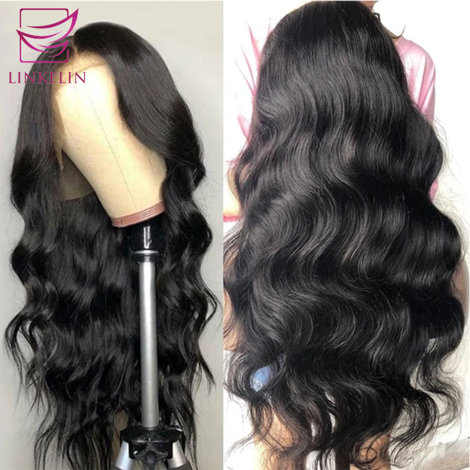 LINKELIN Lace Front Wig 13*4 Peruvian Body Wave Wig Medium Brown 150% Lace Front Human Hair Wigs Lace Frontal Wigs For Women