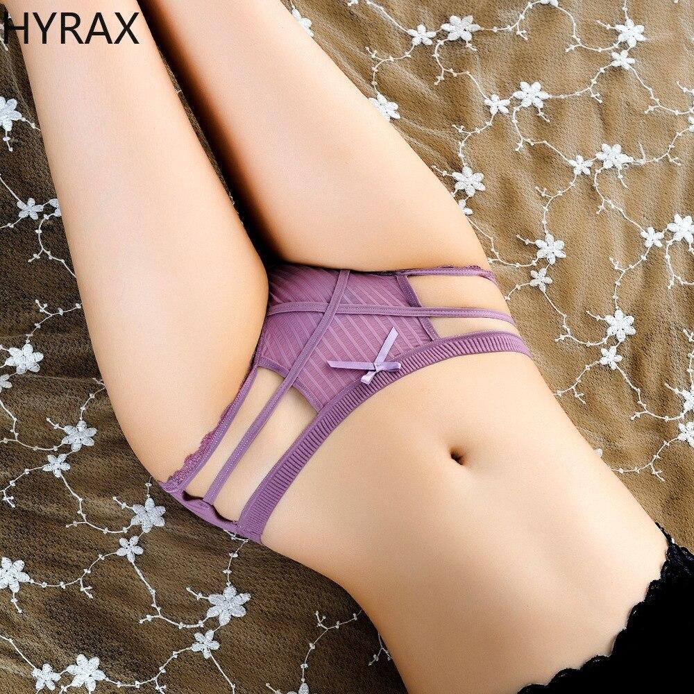 HYRAX, сексуальные трусики, 2 шт. стринги Для женщин нижнее белье Для женщин бесшовные голой трусики для девушек с заниженным шаговым швом с низ...