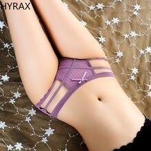 Hirax sexy calcinha 2 peças tangas roupa interior feminina sem costura nua senhoras briefs virilha cintura baixa renda transparente