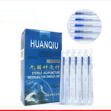 new 200 pcs/2 boxes huanqiu acupuncture needle sterile acupuncture