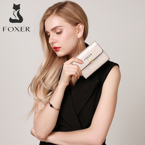 Image 5 - FOXER Brand Womens ID Case Mini Wallet Business Card Holder Female Purse Coin Packet Lady Mini Large Capacity Card Slot