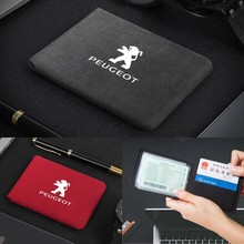 Paquete de bolsa para Logo Peugeot 406, 301, 407, 307, 207, 208, 206, 103, 605, 308, 2008, 4008, 5008, 3008 accesorios de coche titular de la tarjeta de crédito