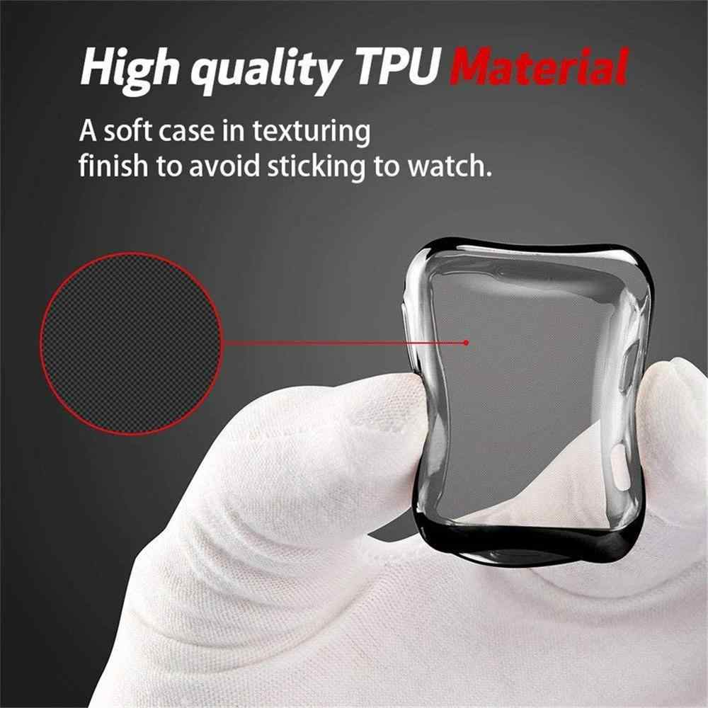 Horloge Cover Case Voor Apple Horloge Serie 5 4 3 2 1 Band Case 42 Mm 38 M 40 Mm 44 Mm Slanke Tpu Case Protector Voor Iwatch 4 44 Mm