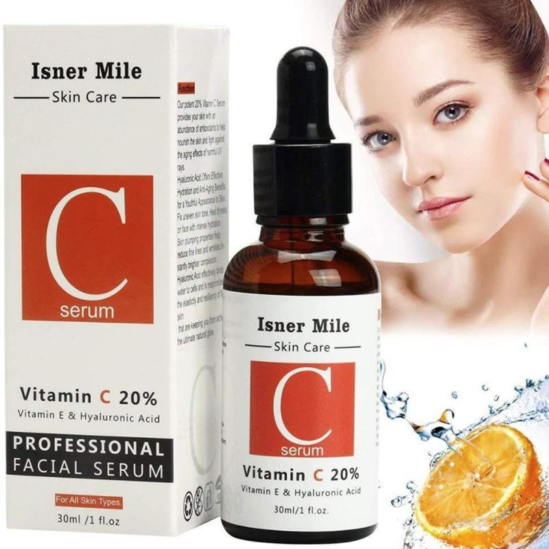 20% Vitamin C Serum Hyaluronic Acid Retinol Isner Mile 30ml V 2.5% Face Serum Anti Wrinkle Whitening Moisturizing Skin Care