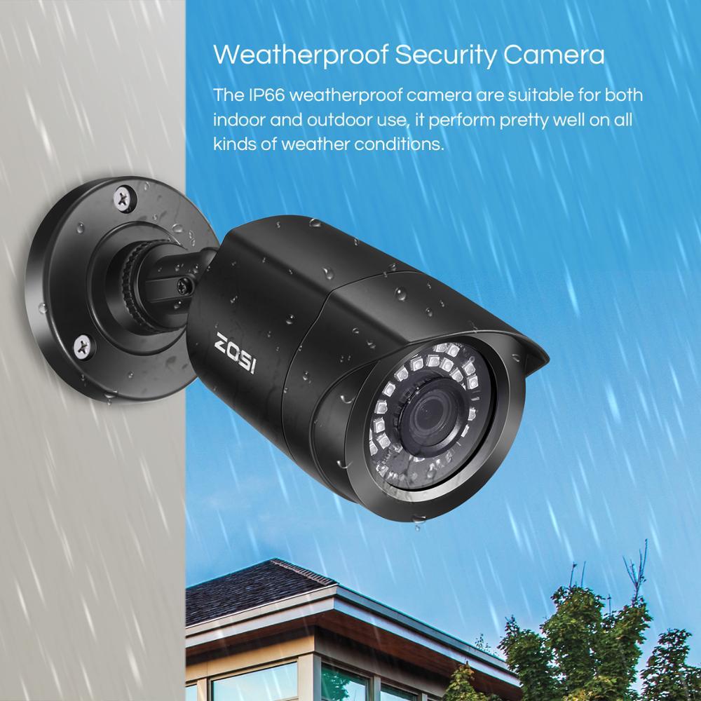 Sistema CCTV ZOSI 8CH 4 Uds. 1080p cámara de seguridad exterior resistente a la intemperie DVR Kit día/noche Sistema de videovigilancia para el hogar - 3