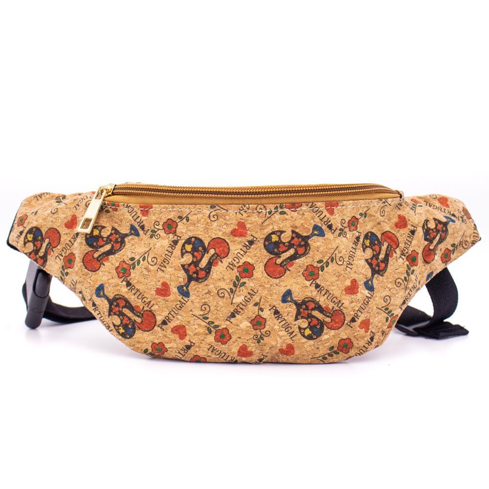 Cork Travel Belt Bag With Rooster Print BAGD-047