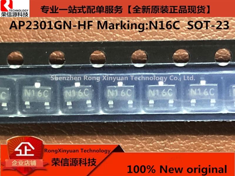 Новинка 100%, оригинальный фонарь AP2301GN AP2301 2301, маркировка: N16C SOT-23, режим улучшения яркости, МОП-20 в, МОМ,-а