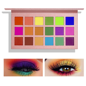18 Colors Matte Shimmer Eyeshadow Palette Smoky Pigment Long Lasting Makeup Palette Neon Eye Shadow Pallete Cosmetics TSLM2